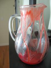 fake bloody pitcher