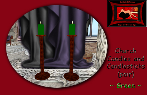 Church Candles - Green
