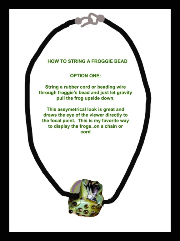 How to string an assymetrical bead OPTION TWO