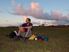 Erster Sonnenuntergang mit Picknick natürlich