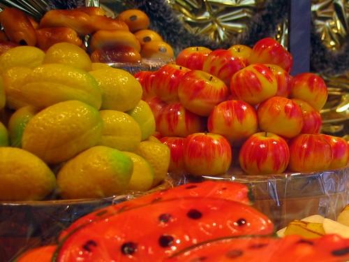Marzipan fruit in Lyon.