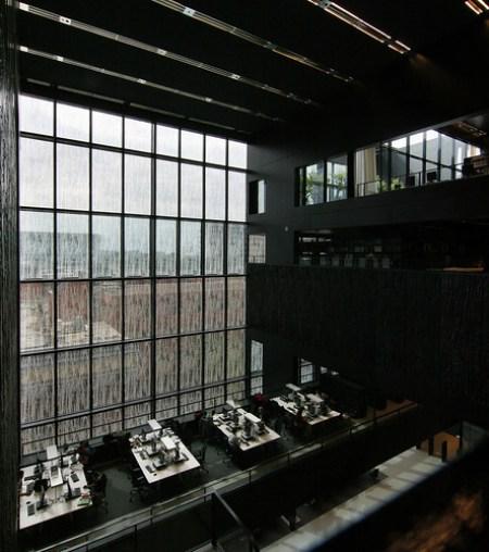 Biblioteca de la Universidad de Utrecht. Uithof. Wiel Arets