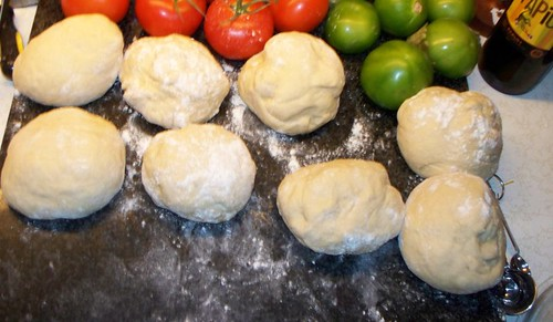 Challah shaped nicely into balls.