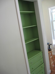 built in bookcase - after