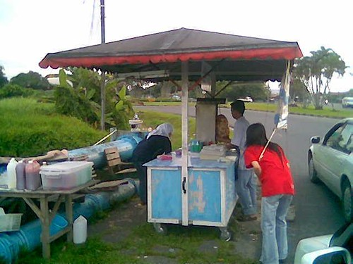 Sibu's Ferry Kebab stall