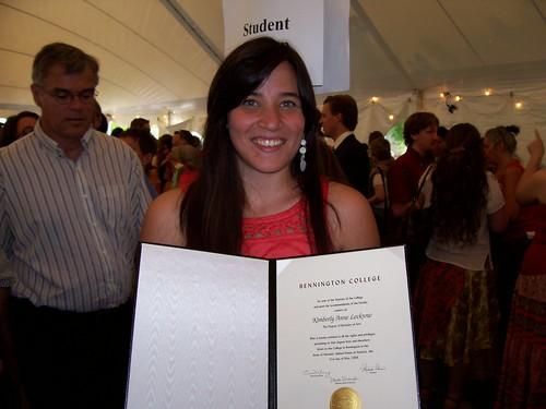 Kim with Diploma
