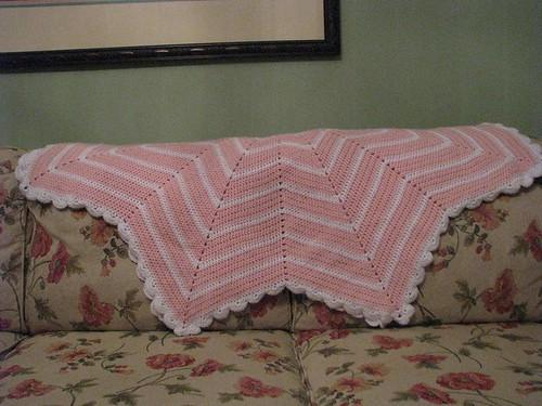 Ripple Baby Afghan folded
