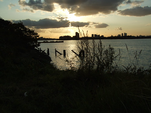 Gallions Reach at sunset