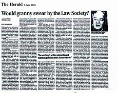 The Herald 5 June 2006 - Would granny swear by the law society