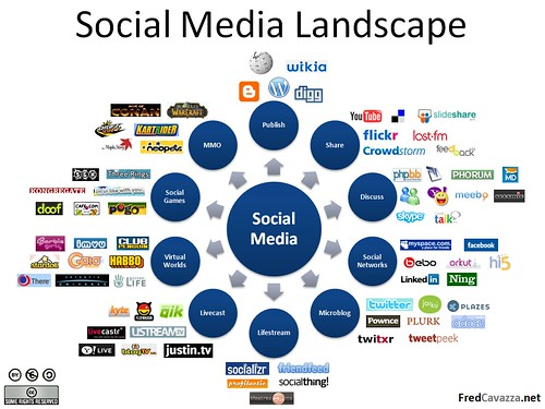 Social Media Landscape by fredcavazza, on Flickr