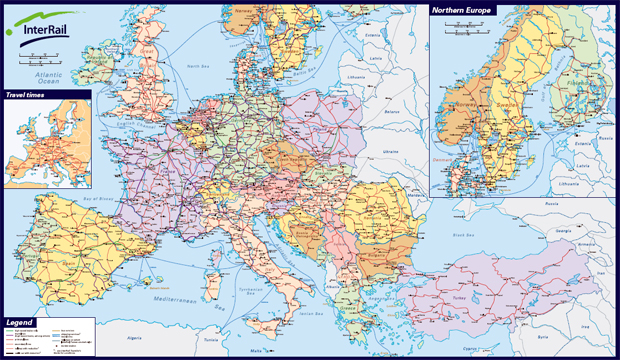 Mapa De Ferrocarriles Europeos La Cartoteca