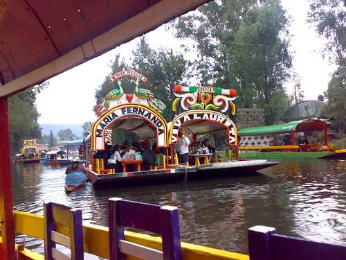 Trajineras in Xochimilco