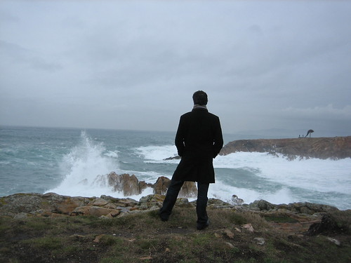 Me staring the waves crashing