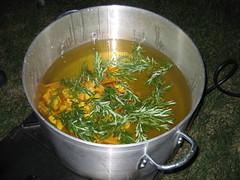 Rosemary, Garlic, and Bacon in Peanut Oil