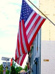 US Flag flies in Scottsville