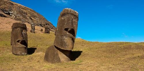 Der schräge Kopf: meistfotografierter Moai der Osterinsel!