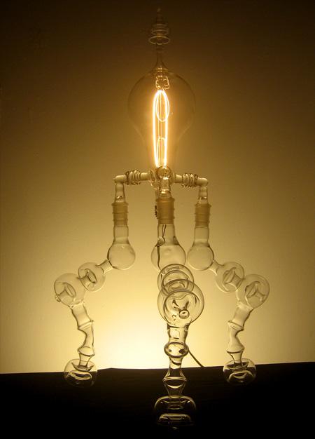 Designerleuchte Glühlampe Mundgeblasen