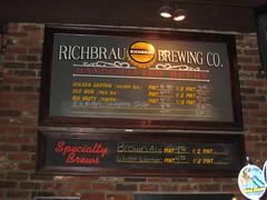 beer board at Richbrau