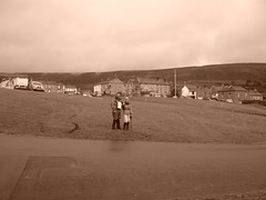Leaving Reeth on sepia day to mask the weather