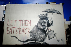 Banksy Rat Mural: Let them Eat Crack on Broadw...
