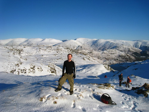 Me at the top of Belles Knot, overlooking Easedale