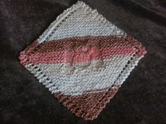 Diagonal Owl Dishcloth