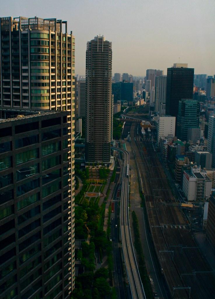 Vista desde el hotel hacia Minato-ku