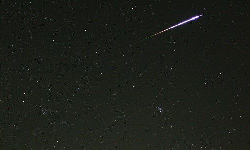 Perseid Fireball over Japan. Click to enlarge.
