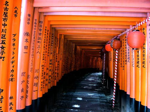 Torii passage - Fushimi Inari