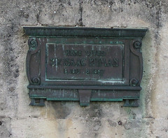 Here Dwelt Sir Isaac Pitman (inventor of shorthand), the Royal Crescent, Bath, UK