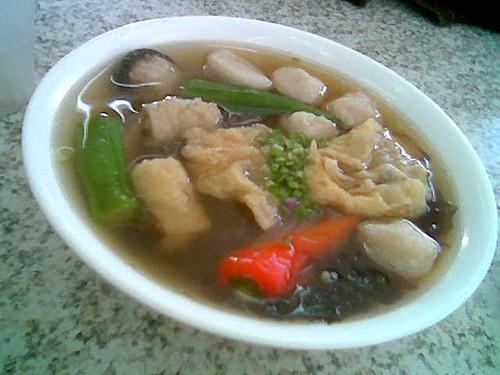 Sing Long Cafe's yong tofu, Sibu