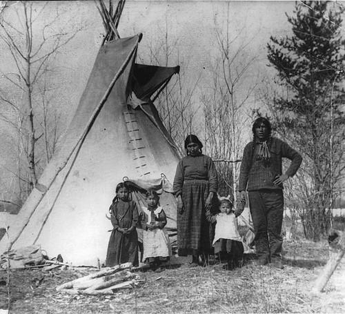 Aboriginal family near Prince Albert, SK, 1919