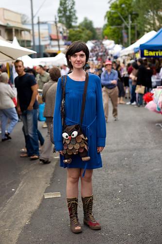 Blue & owl - Glebe street fair