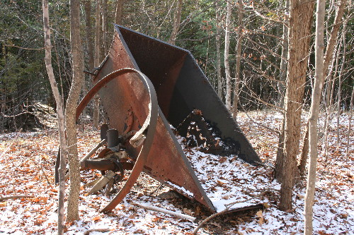 Rusting mining equipment