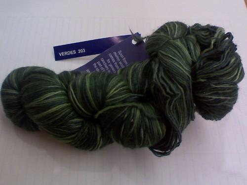 Lace weight malabrigo in Verdes