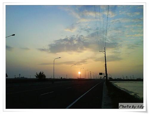 七股的夕陽。