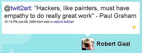 """Hackers, like painters, must have empathy to do really great work"" - Paul Graham"