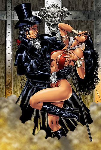 Echa la desmayada con el mismisimo Drácula