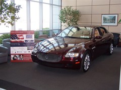 Maserati Quattroporte from Maserati of Baltimore in Lobby of Signature Flight Support