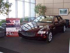 Maserati Quattroporte from Maserati of Baltimore in Lobby of Signature Flight Support