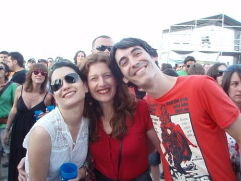 Marisa, Angel y una amiga