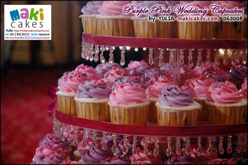 Pink Purple Wedding Cupcakes - Maki Cakes
