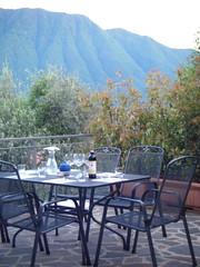 Dinner on the terrace, lake como