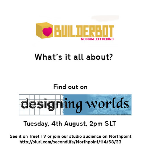 BuilderBot on Designing Worlds
