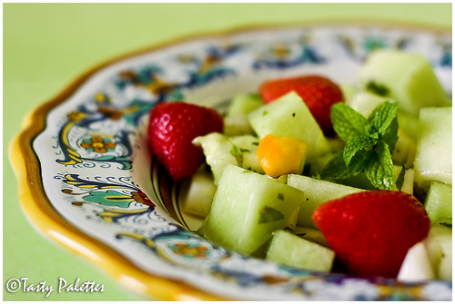 Melon Salad with Mint and Buddha's Hand