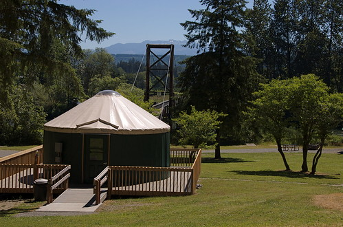 Tolt-MacDonald Park yurts and suspesnion bridge