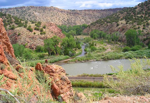 Grape Creek meets the Arkansas River