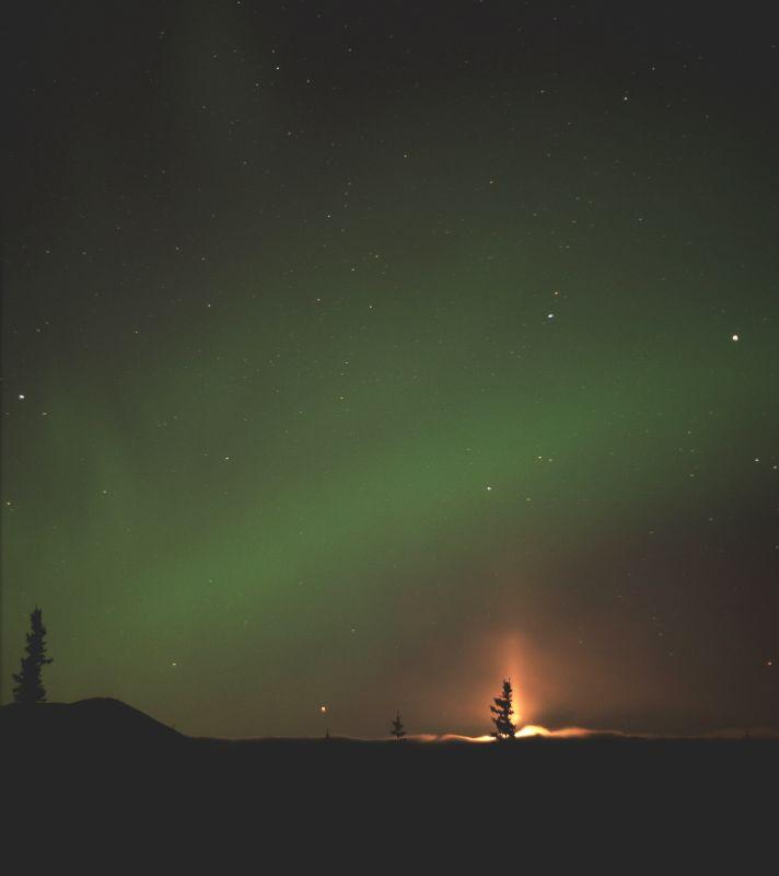 Moon Pillar Aurora