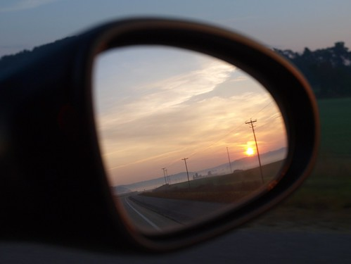 And Finally, A Rearview Mirror Sunrise