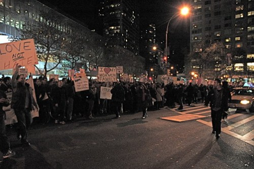 Anti-Prop 8 Protest in NYC